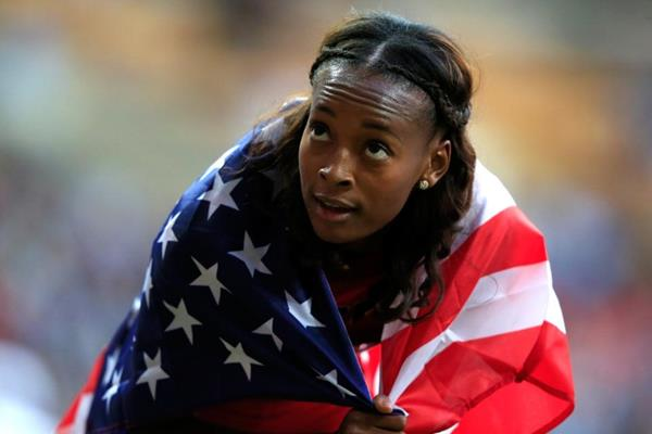 Dalilah Muhammad in the womens 400m Hurdles at the IAAF World Athletics Championships Moscow 2013 (Getty Images)