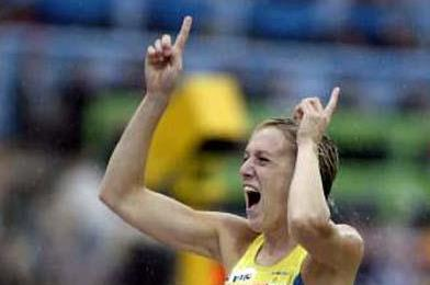 Kajsa Bergqvist in Munich 2002 (Getty Images/Allsport)
