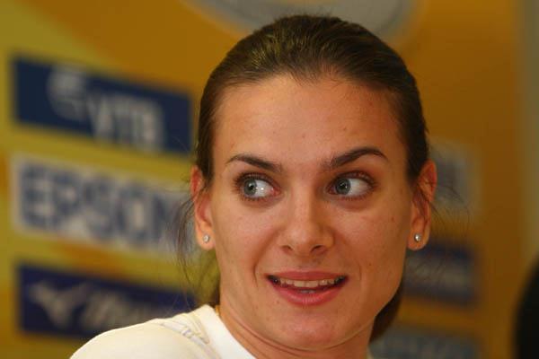 Yelena Isinbayeva in Stuttgart (Getty Images)