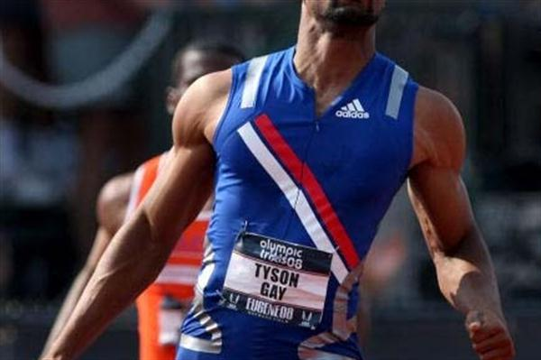 Tyson Gay wins the US Olympic Trials in 9.68 sec WINDY (Getty Images)