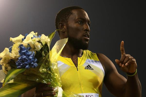 Jamaican sprinter Nickel Ashmeade celebrates his victory (Getty Images)