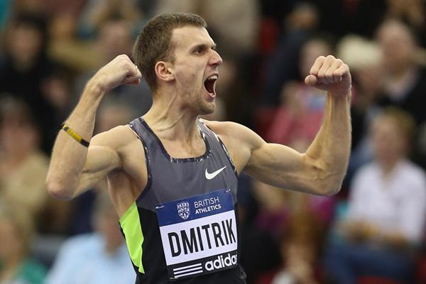 Aleksey Dmitrik wins the High Jump with 2.33m in Birmingham (Getty Images)