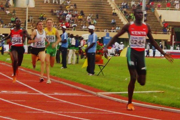 David Rudisha takes expected win at African Junior Championships (Mark Ouma)