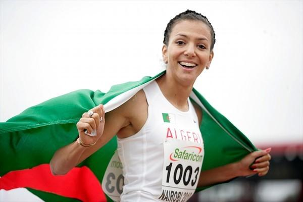 Zahra Bouras after her 800m victory in Nairobi (Mohammed Amin)