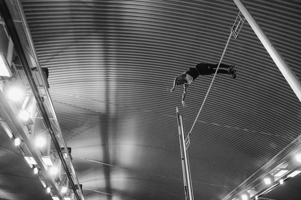 Pole vaulter Luke Cutts during the British Indoor Champs 2016 ()