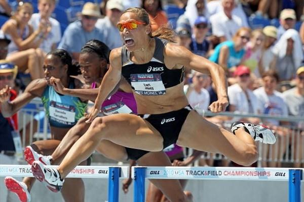 Lolo Jones roars to 100m Hurdles success at the 2010 USATF Nationals (Getty Images)