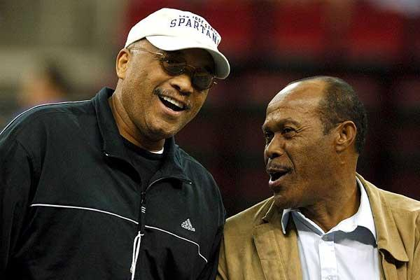 Lee Evans and Tommie Smith in Fresno (Kirby Lee - The Sporting Image)