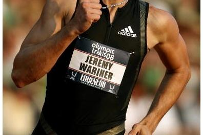Jeremy Wariner in the semis of the 400m at the US Olympic Trials (Getty Images)