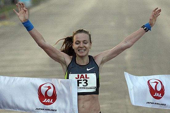 Valentina Galimova wins the Honolulu Marathon (Organisers)