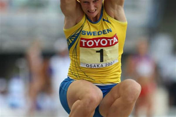 Carolina Kluft in the Heptathlon Long Jump (Getty Images)