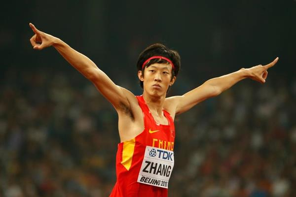 Zhang Guowei in the high jump final at the IAAF World Championships, Beijing 2015 (Getty Images)