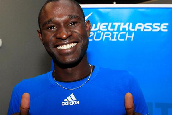 David Rudisha at his pre-meet press conference in Zurich (Gladys Chai van der Laage)
