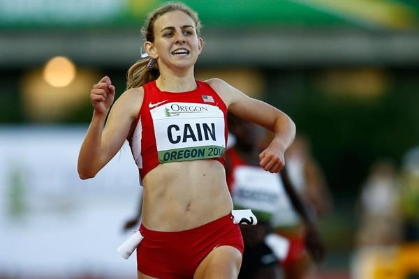 Mary Cain wins the 3000m at the IAAF World Junior Championships, Oregon 2014 (Getty Images)