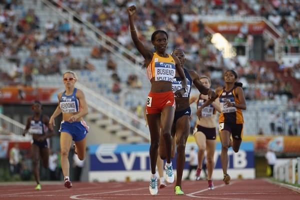 Janeth Jepkosgei wins the 800m at the IAAF / VTB Bank Continental Cup in Split (Getty Images)