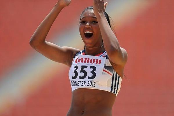 British heptathlete Morgan Lake at the 2013 World Youth Championships (Getty Images)