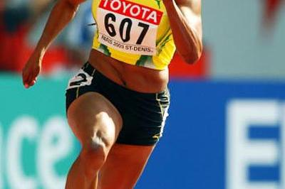 Beverly McDonald of Jamaica in the 200m heats (Getty Images)