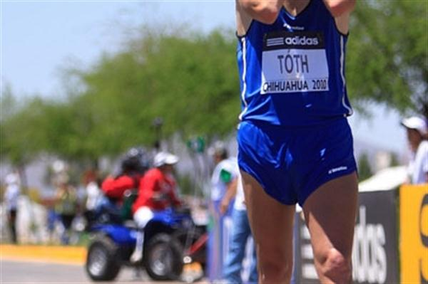 Matej Toth can hardly believe he has become the World 50km race walk Cup winner in Chihuahua (Getty Images)