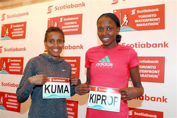 Eyerusalem Kuma and Agnes Kiprop in Toronto (Victah Sailer - Photo Run)