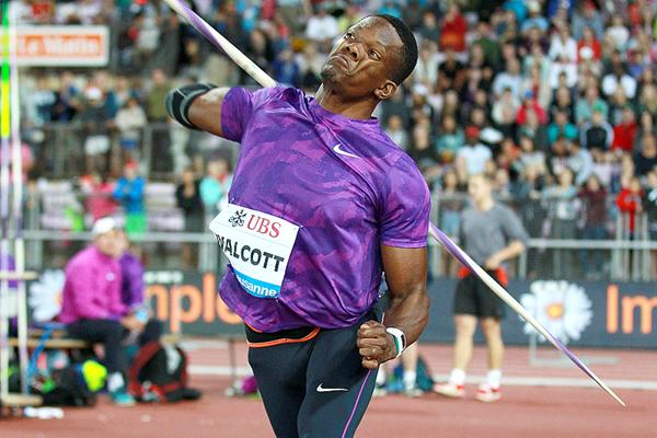 Keshorn Walcott in the javelin at the IAAF Diamond League meeting in Lausanne (Victah Sailer)
