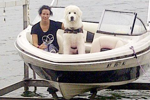 Jenn Suhr with her pet dog Tundra (Jenn Suhr)