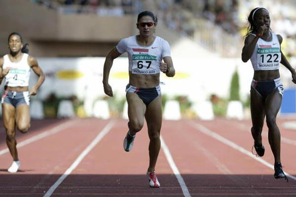 Ana Guevara of Mexico wins the 400m at the World Athletics Final (Getty Images)