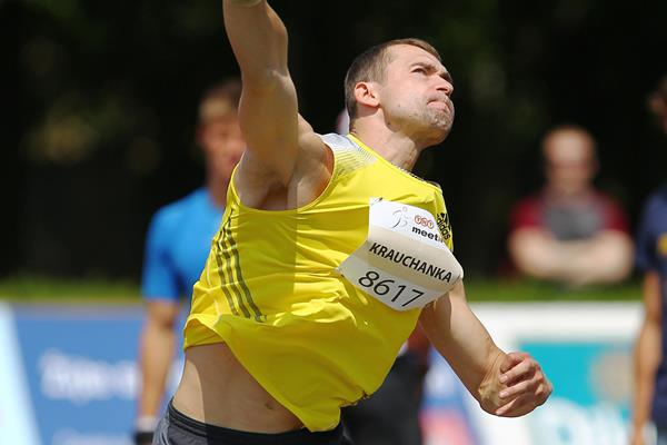 Andrei Krauchanka winning at the 2013 TNT Express meeting in Kladno (Jan Kucharcik)