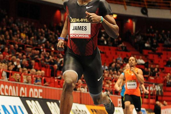 45.52 Arena record for Kirani James in Stockholm (Anders Sjogren / DECA Text&Bild)