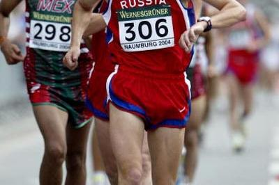 Vladimir Kanaykin of Russia before being disqualified (Getty Images)