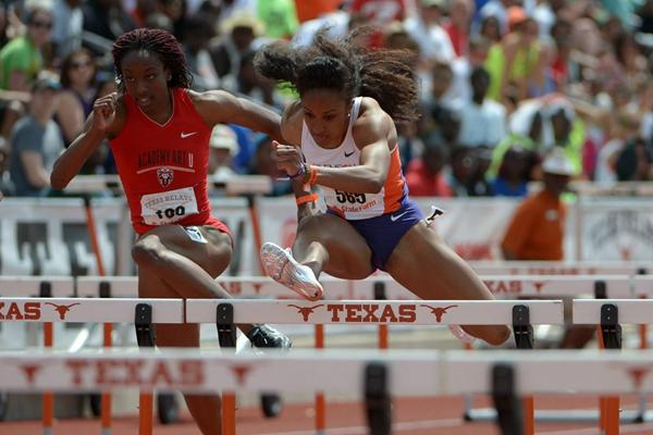 Brianna Rollins at the 2013 Texas Relays (Kirby Lee)