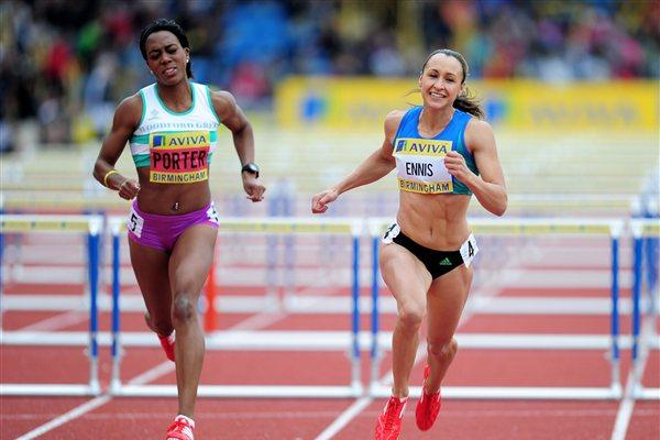 Jessica Ennis takes the British 100m Hurdles title in Birmingham (Getty Images)