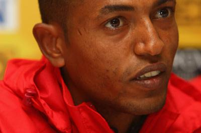 Zersenay Tadese (ERI) at the IAAF press conference in Edinburgh (Getty Images)