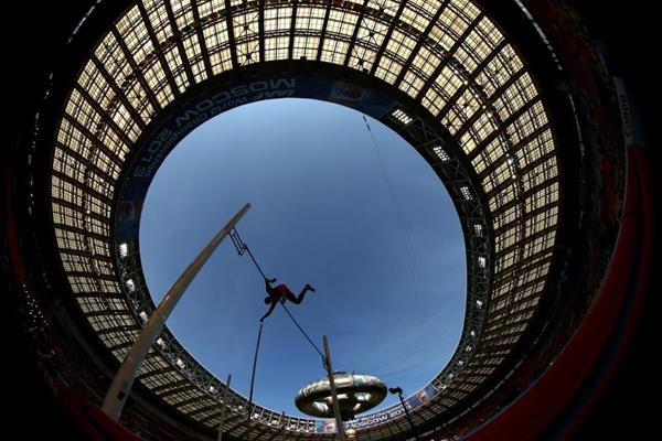 Action Shot Pole Vault at the IAAF World Athletics Championships Moscow 2013 (Getty Images)