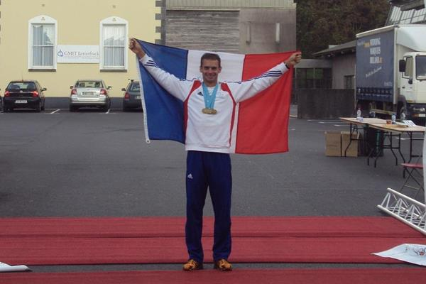 Erik Clavery after winning the 2011 IAU Trail World Championships (IAU)