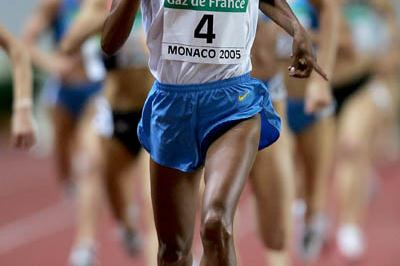 Maryam  Yusuf Jamal wins the women's 1500m at the World Athletics Final (Getty Images)