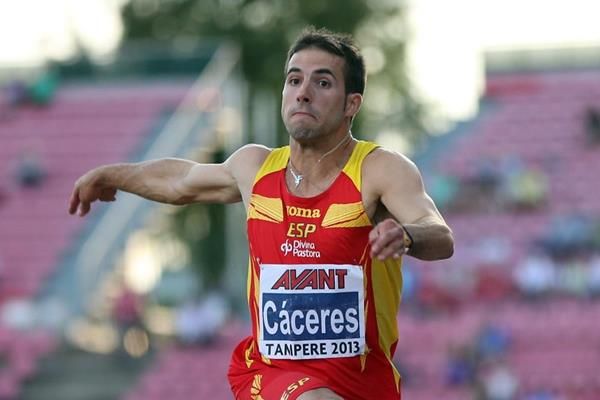 Eusebio Caceres at the 2013 European Athletics U23 Championships (Getty Images)