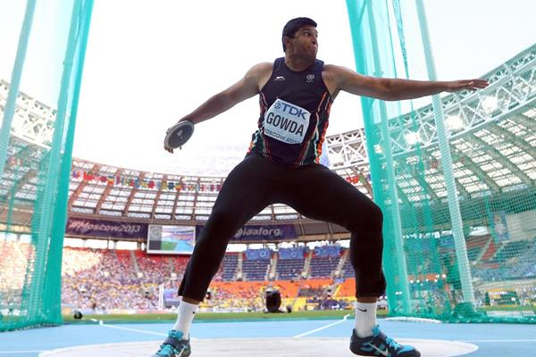 Vikas Gowda at the 2014 Commonwealth Games (Getty Images)