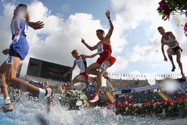 Jonathan Hernandez of Spain during the Men's 3000m Steeplechase heats (Getty Images)