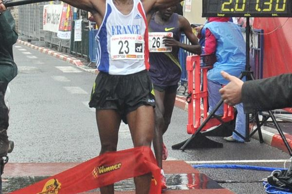 2:07:30 victory for Patrick Twambe at the 2012 Tiberias Marathon (organisers)
