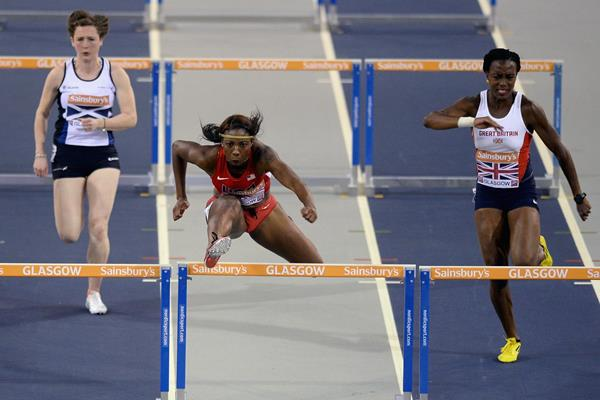 Nia Ali takes the 60m hurdles (Getty Images)