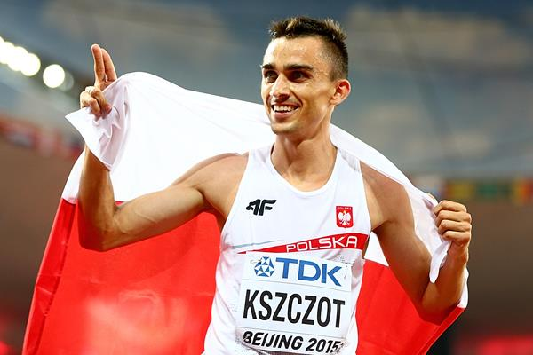 800m silver medallist Adam Kszczot at the IAAF World Championships, Beijing 2015 (Getty Images)