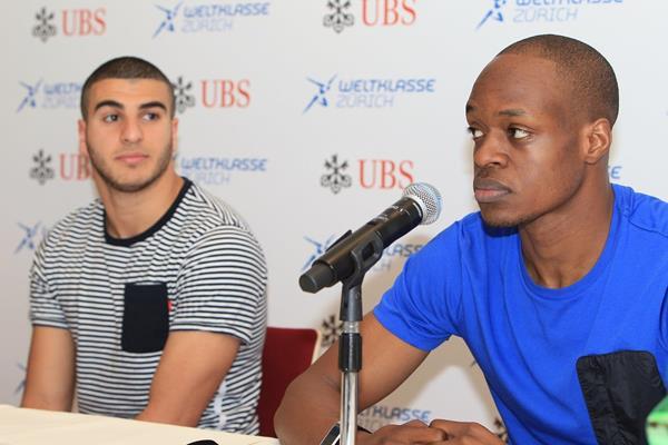 Adam Gemili and James Dasaolu ahead of the 2014 IAAF Diamond League final in Zurich (Jean-Pierre Durand)