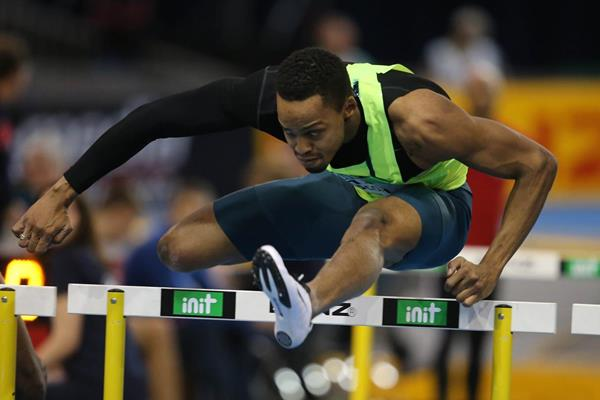 Dimitri Bascou at the 2015 Indoor Meeting Karlsruhe (Gladys von der Laage)