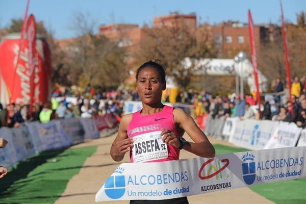 Sofia Assefa wins at the 2013 Alcobendas cross country meeting (Miguel Alfambra FUNDACION ANOC)
