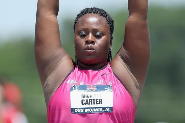 Michelle Carter at the 2013 US Championships where she set an American record in the Shot (Getty Images)