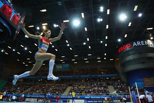 Ekaterina Koneva Russian triple jump at Sopot 2014 ()