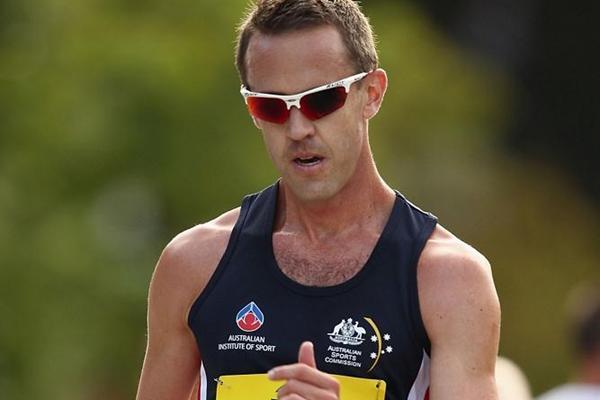 Luke Adams in Hobart (Getty Images)