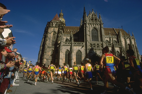 The 1997 IAAF World Half Marathon Championships in Kosice (Getty Images)