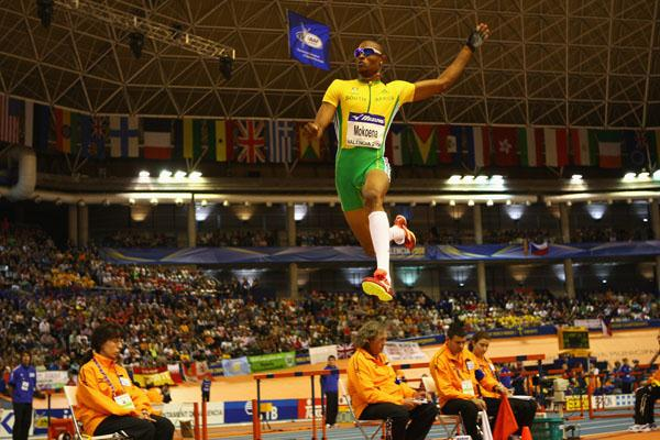 Godfrey Mokoena leaps to world indoor long jump gold (Getty Images)