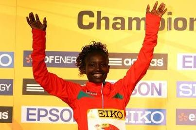 Mary Keitany celebrates her win in Birmingham (Getty Images)