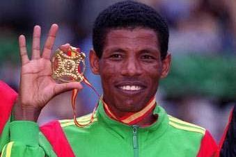 10,000m World Champion Haile Gebrselassie (© Allsport)